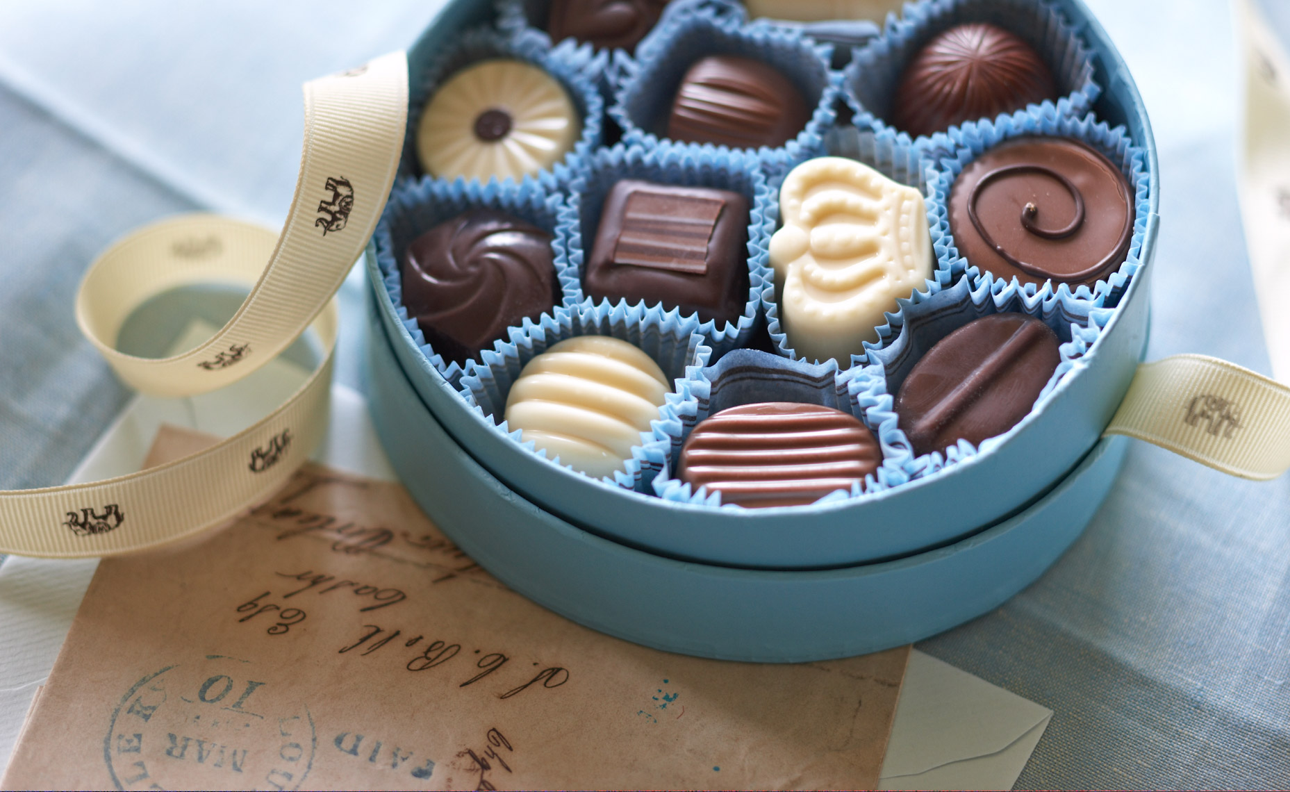 Chocolate in blue box hilip Harvey Photography, San Francisco, California, still life, interiors, food, lifestyle and product photography