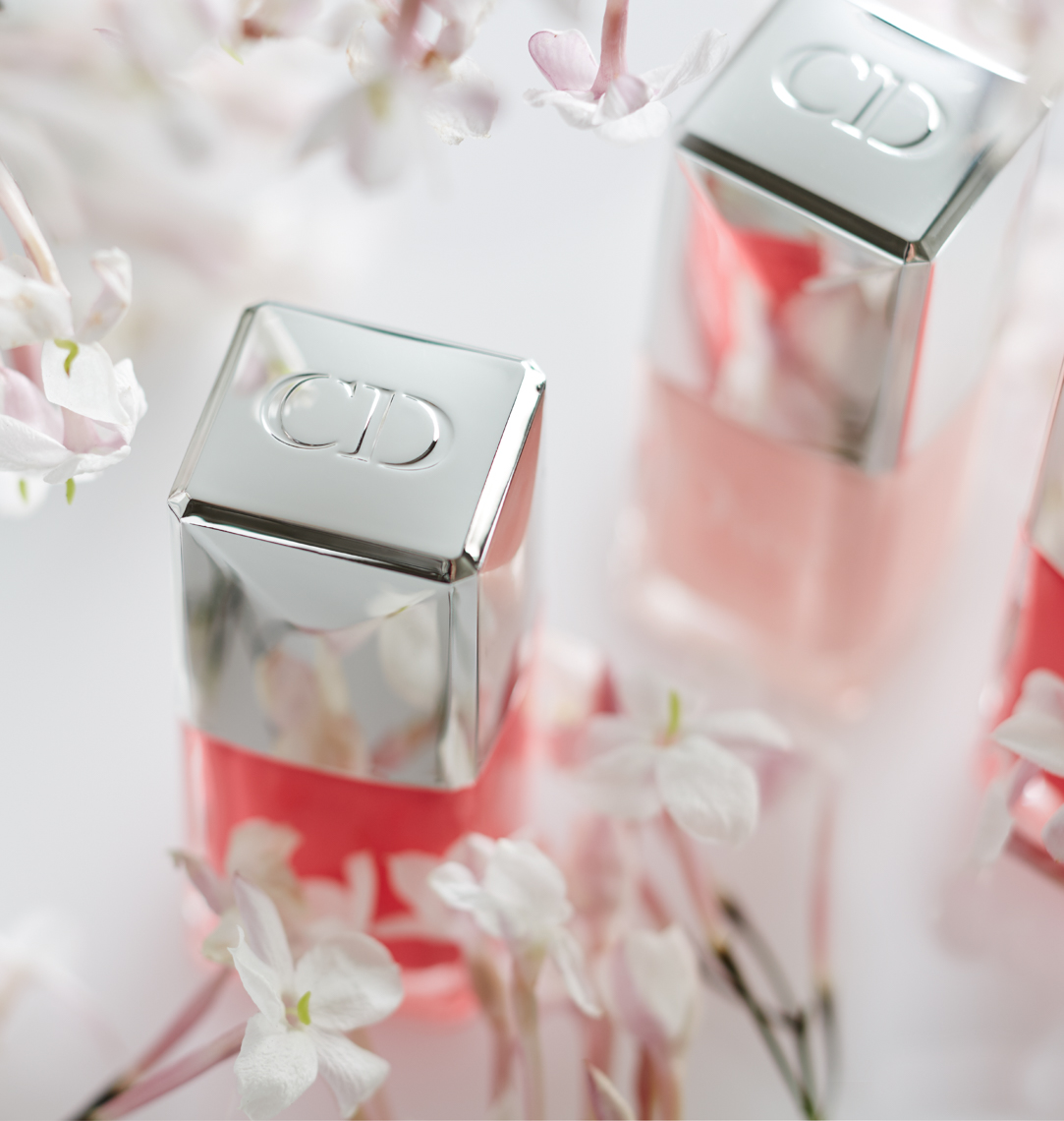 detail of pink nail polish with white lilies San Francisco product photographer