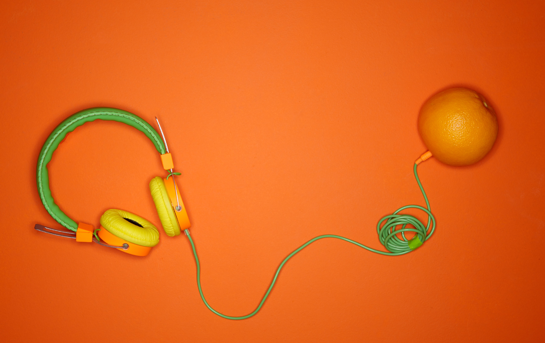 Head phones and orange Philip Harvey Photography, San Francisco, California, still life, interiors, lifestyle and product photography
