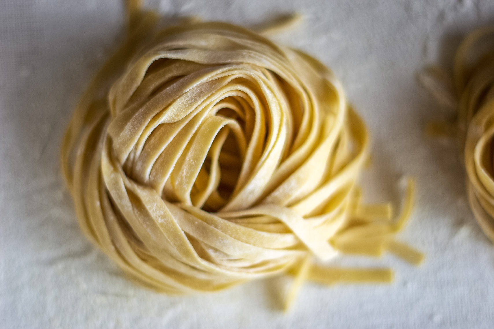 freshly cut roll of pasta San Francisco food photographer