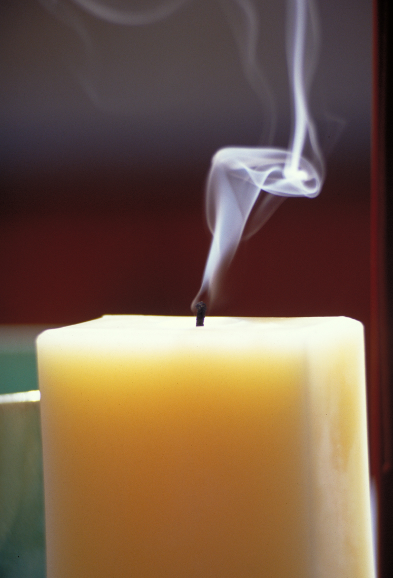 Candle with smoke no flame hilip Harvey Photography, San Francisco, California, still life, interiors, food, lifestyle and product photography